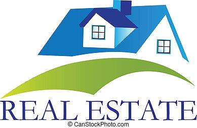 El logo de la casa de bienes raíces