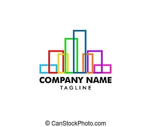 El logo de la línea abstracta colorida