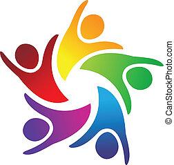 El logo de la unidad de trabajo en equipo