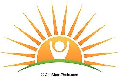 El logo de la vida solar,