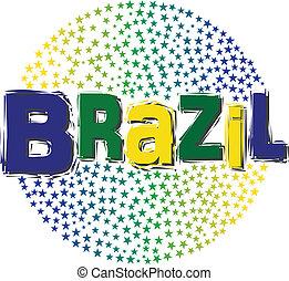 El logo de las estrellas del mundo de Brasil