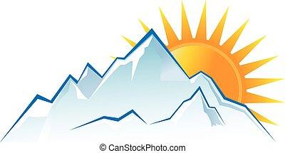 El logo de las montañas