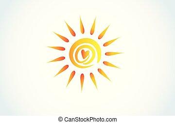 El logo del corazón del sol