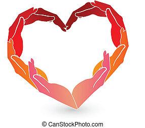 El logo del corazón rojo