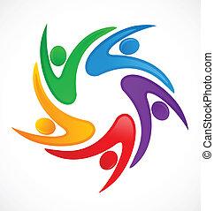 El logo del trabajo en equipo