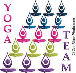 El logo vector del equipo Yoga