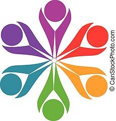 El logotipo de la amistad