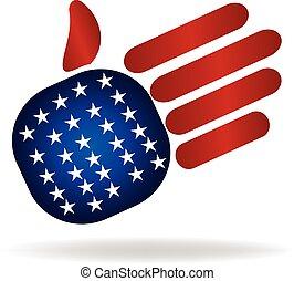 El logotipo de la bandera