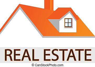 El logotipo de la casa para bienes raíces
