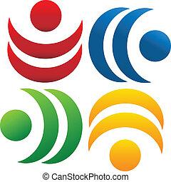 El logotipo de la comunidad de trabajo en equipo
