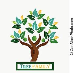 El logotipo de la familia de los árboles