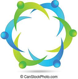 El logotipo de la gente de negocios