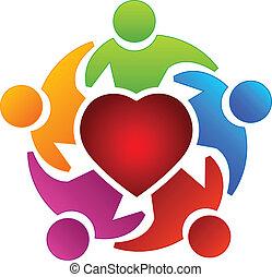 El logotipo de la gente del corazón