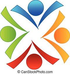 El logotipo de la gente del libro de trabajo