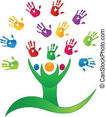 El logotipo de la gente del vector