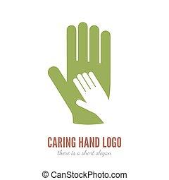 El logotipo de la mano
