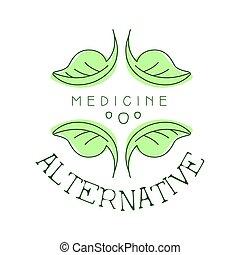 El logotipo de la medicina alternativa simboliza vector de la ilustración