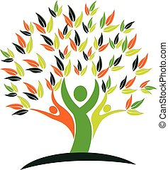 El logotipo de la naturaleza del árbol