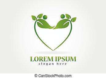 El logotipo de la naturaleza saludable