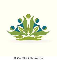El logotipo de la naturaleza sana