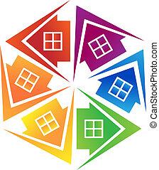 El logotipo de las inmobiliarias