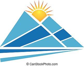 El logotipo de las montañas