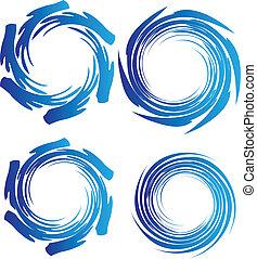 El logotipo de las ondas terrestres