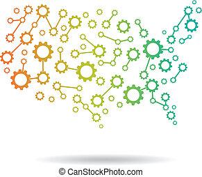 El logotipo de mapa de América