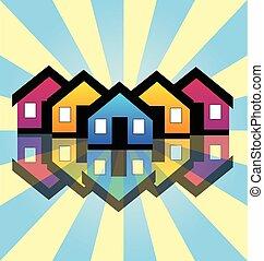 El logotipo de tarjetas de bienes raíces