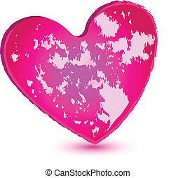 El logotipo del corazón rosado
