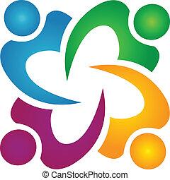 El logotipo del grupo de trabajo en equipo