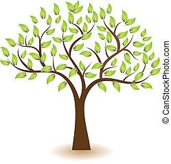 El logotipo del vector del árbol