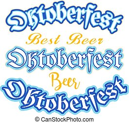 El logotipo del vector para el Oktoberfest.