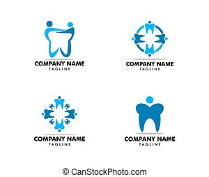 El logotipo dental de la gente