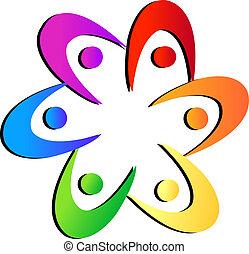 El logotipo floral del equipo