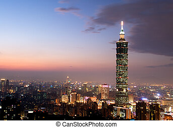 el más alto, edificio, 101, taiwán, taipei