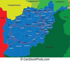 El mapa de Afganistán