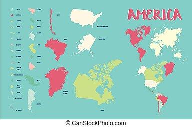 El mapa de América