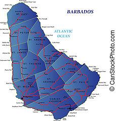 El mapa de Barbados