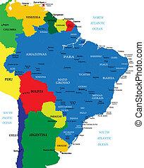 El mapa de Brasil
