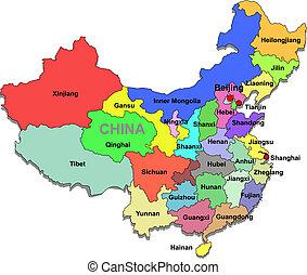El mapa de China