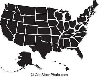 El mapa de Estados Unidos
