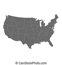 El mapa de Estados Unidos de América