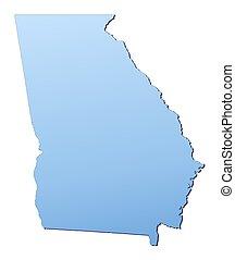 El mapa de Georgia