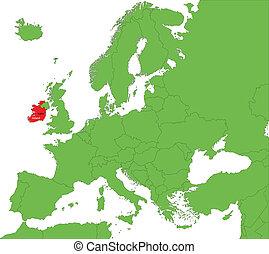 El mapa de Irlanda