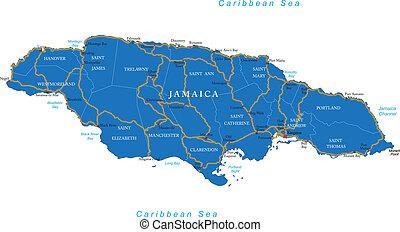 El mapa de Jamaica