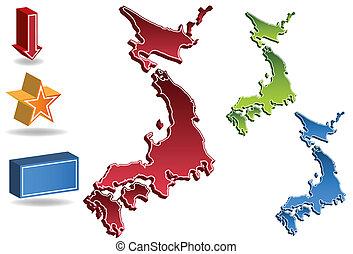 El mapa de Japón