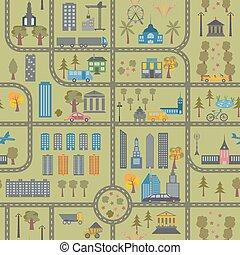 El mapa de la ciudad no tiene forma