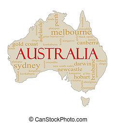 El mapa de las nubes de Australia