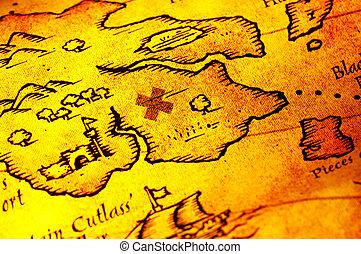 El mapa de los piratas